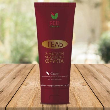 "Shower gel ""Red Natural"" with Red Fruit Oil (200 ml)"